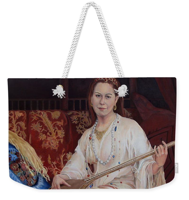 Portrait Weekender Tote Bag featuring the painting The Musician by Portraits By NC