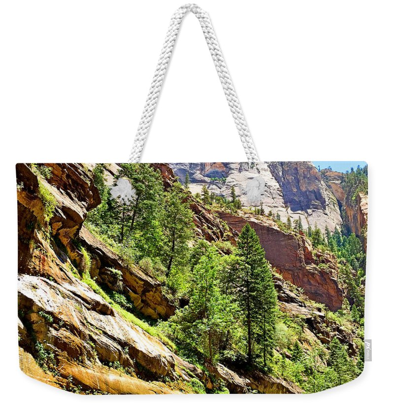 The Narrows Weekender Tote Bag featuring the photograph The Narrows Study 1 by Robert Meyers-Lussier