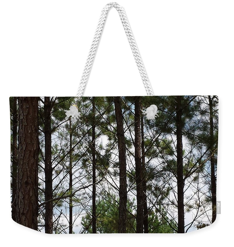 Trees Weekender Tote Bag featuring the photograph The Network by Laura Martin