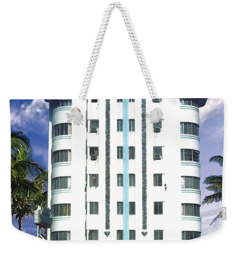 Miami Weekender Tote Bag featuring the photograph The New Yorker by Steve Karol