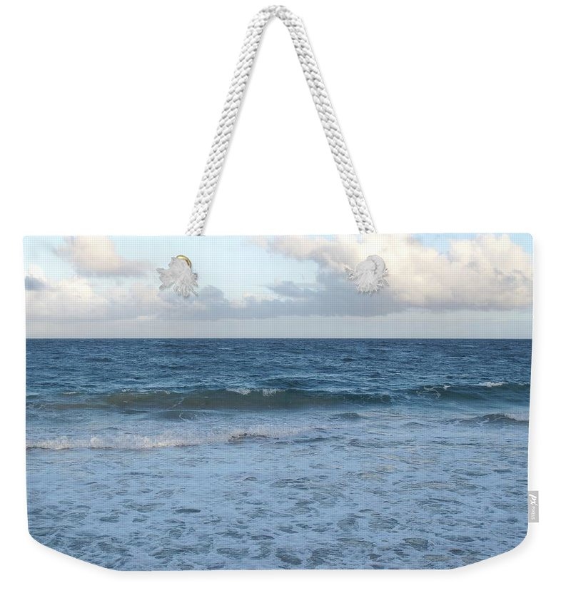 Surf Weekender Tote Bag featuring the photograph The Next Wave by Ian MacDonald