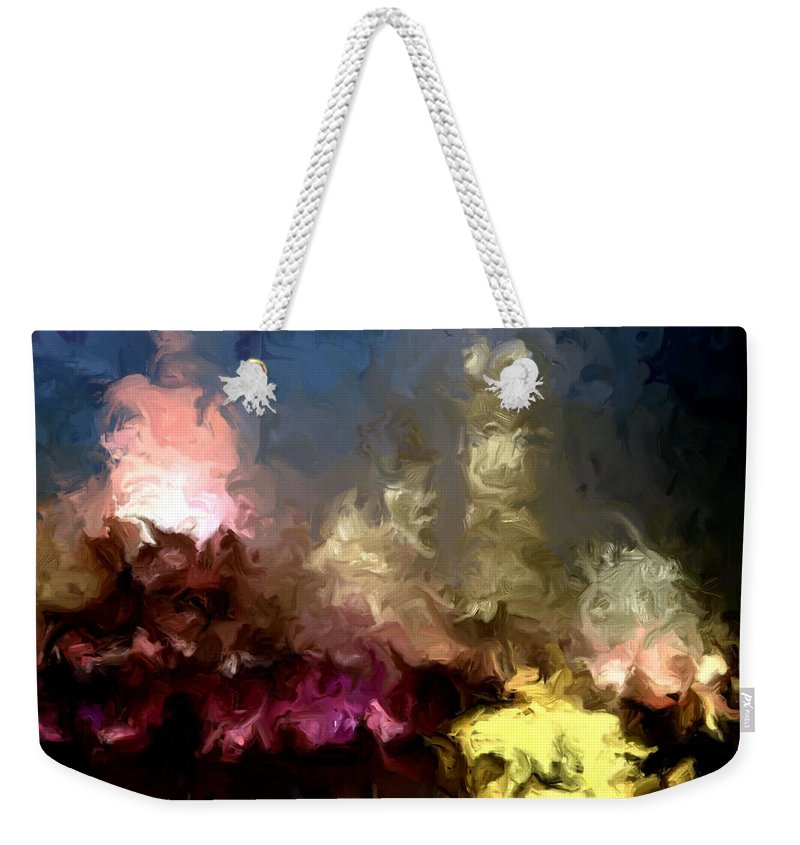 Pink Weekender Tote Bag featuring the painting The Night Moves by Wayne Bonney