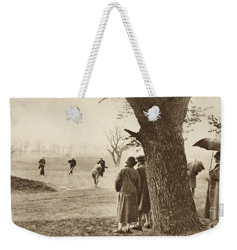 Golf Weekender Tote Bag featuring the photograph The Ninth Green At Tooting Bec Golf Course by English School