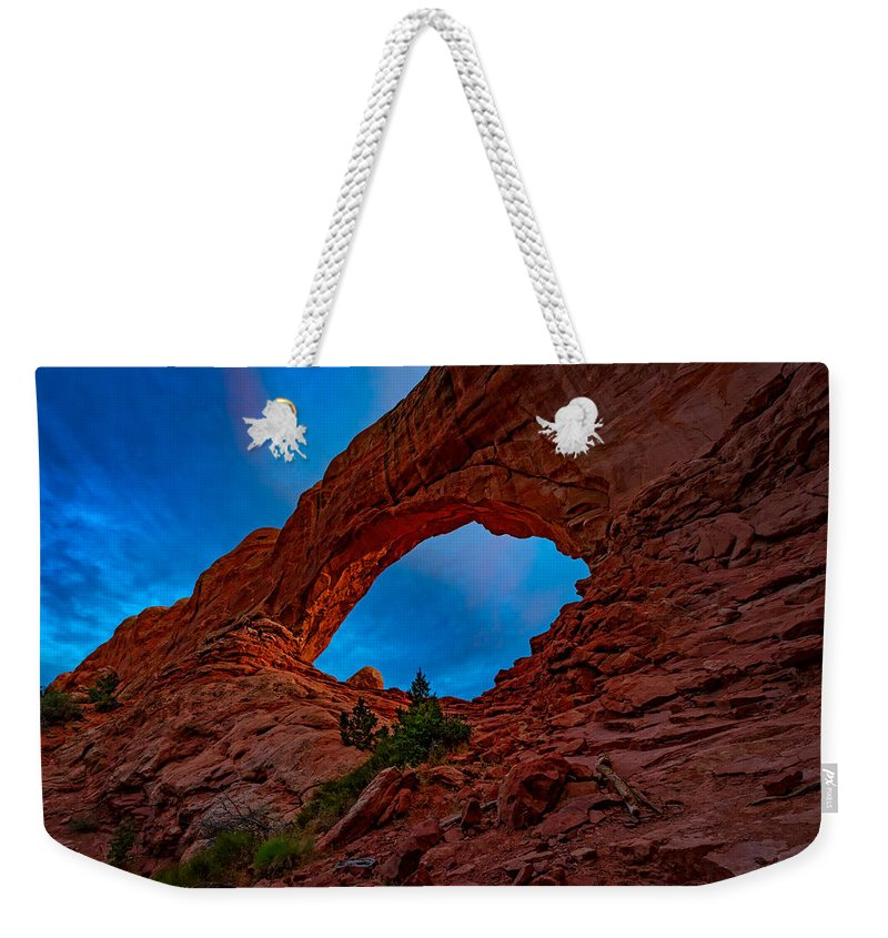 Windows Weekender Tote Bag featuring the photograph The North Window by Rick Berk