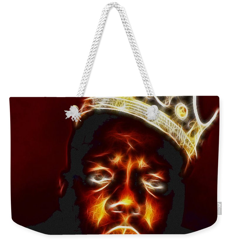 The Notorious B.i.g. - Biggie Smalls Weekender Tote Bag featuring the photograph The Notorious B.i.g. - Biggie Smalls by Paul Ward