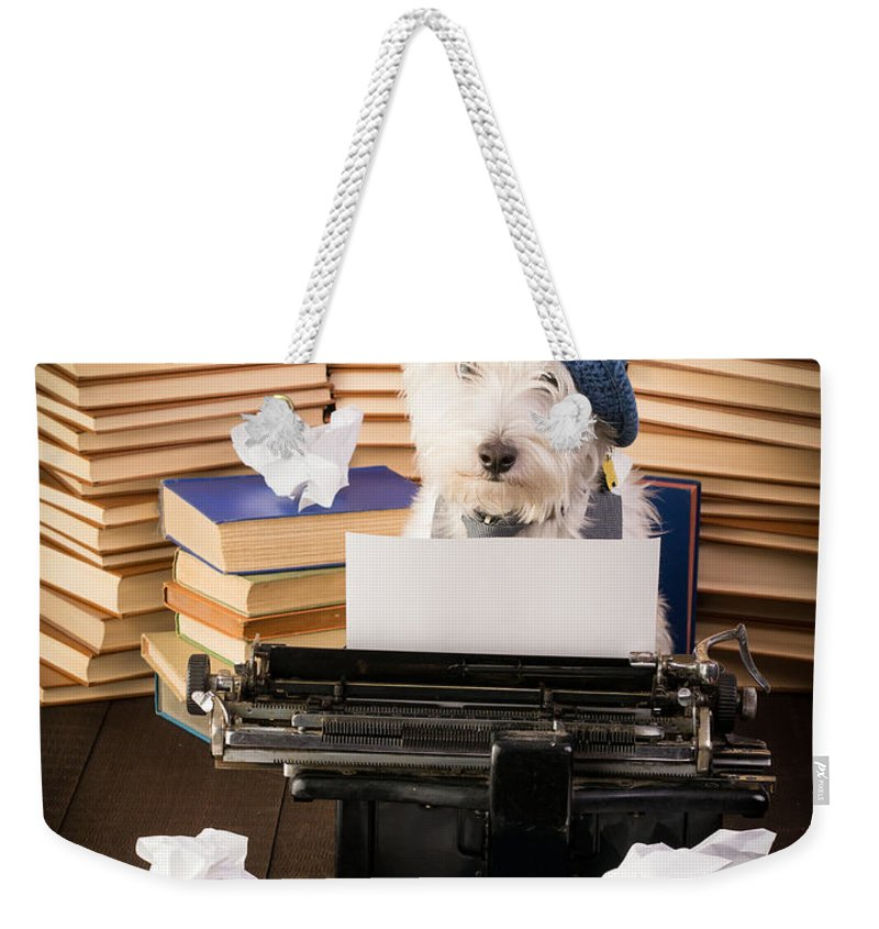 Writer Weekender Tote Bag featuring the photograph The Novelist by Edward Fielding