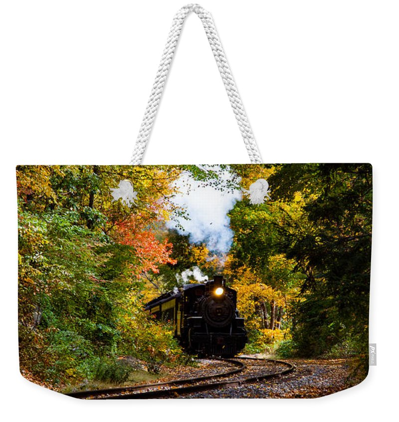 #jefffolger Weekender Tote Bag featuring the photograph The Number 40 Rounding The Bend by Jeff Folger