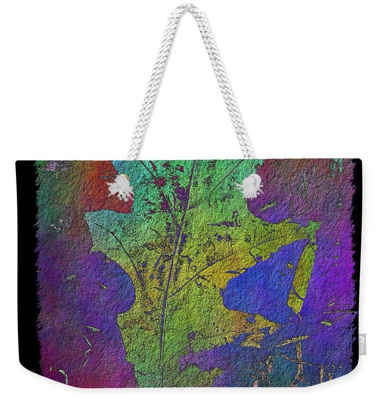 Oak Weekender Tote Bag featuring the digital art The Oak Leaf by Tim Allen