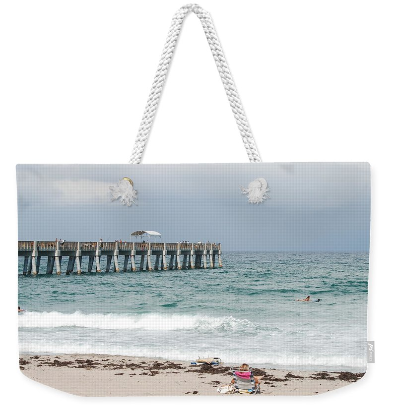 Women Weekender Tote Bag featuring the photograph The Ocean Pier by Rob Hans