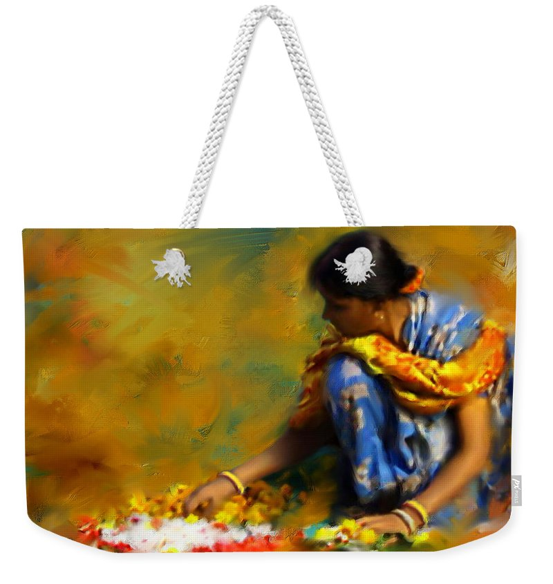 Spiritual Weekender Tote Bag featuring the digital art The Offerings by Stephen Lucas