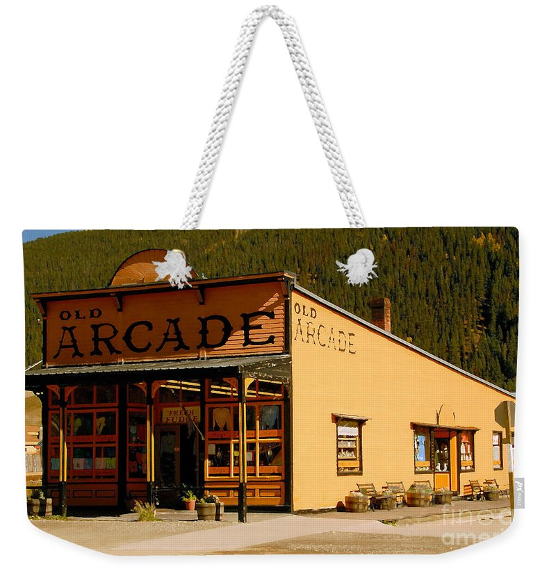 Arcade Weekender Tote Bag featuring the photograph The Old Arcade by David Lee Thompson