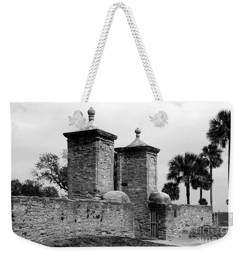 Saint Augustine Florida Weekender Tote Bag featuring the photograph The Old City Gates by David Lee Thompson