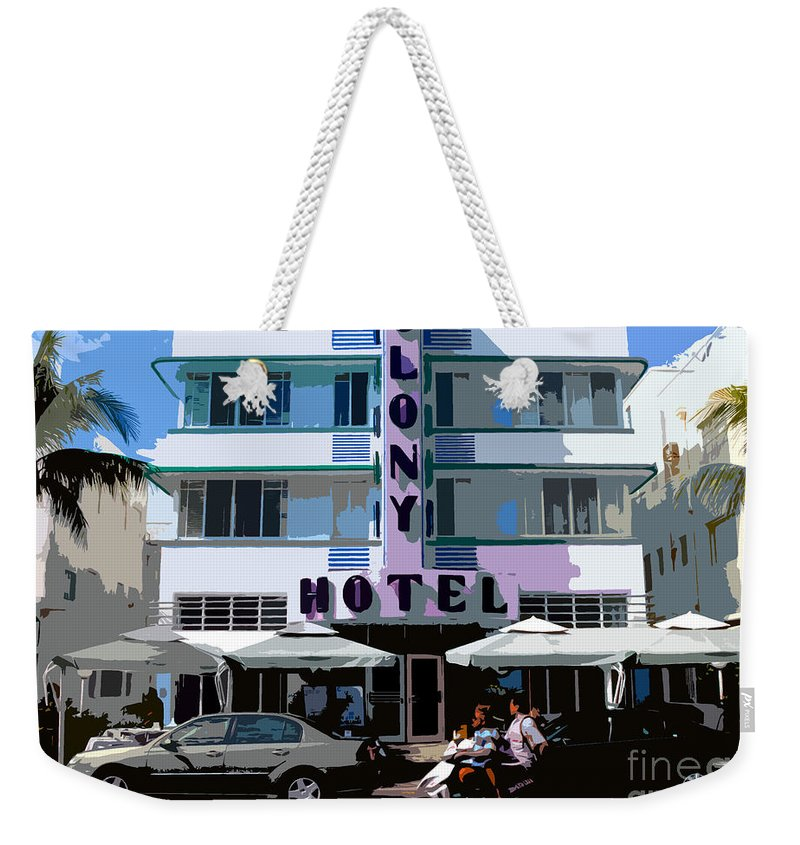 Hotel Weekender Tote Bag featuring the photograph The Old Colony Hotel by David Lee Thompson
