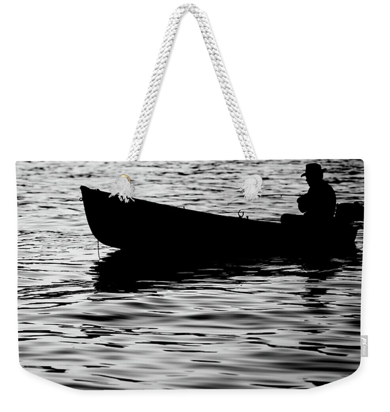 Black Weekender Tote Bag featuring the photograph The Old Fishermen by Pedro Cardona Llambias