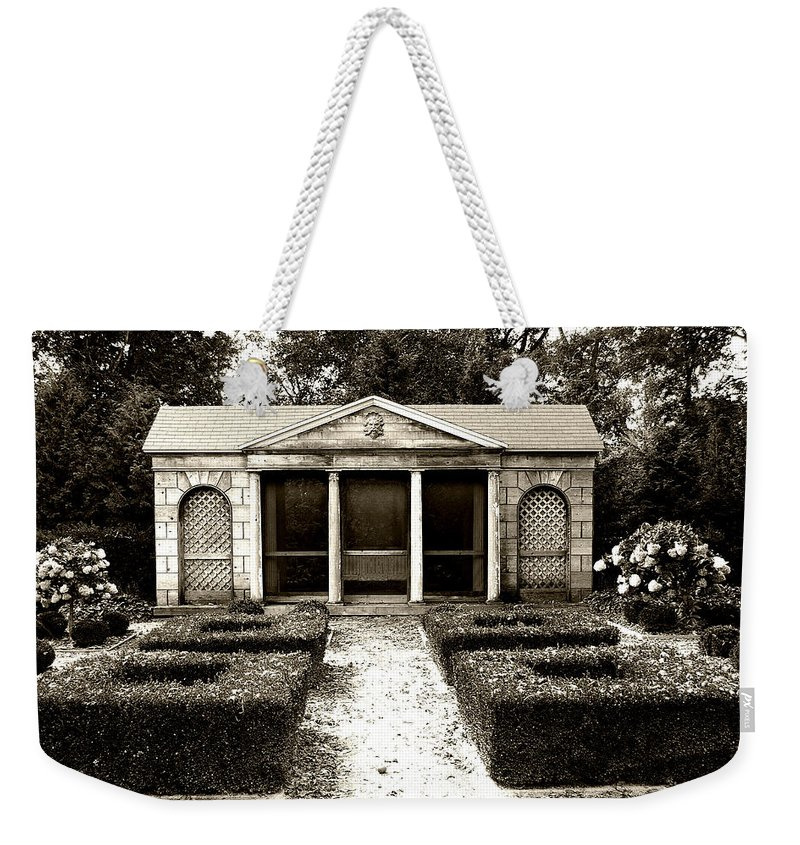 Garden Weekender Tote Bag featuring the photograph The Old Garden House by Tom Reynen