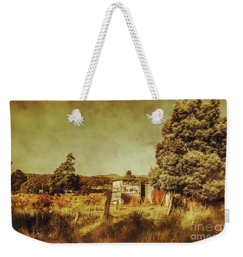 Tasmania Weekender Tote Bag featuring the photograph The Old Hay Barn by Jorgo Photography - Wall Art Gallery