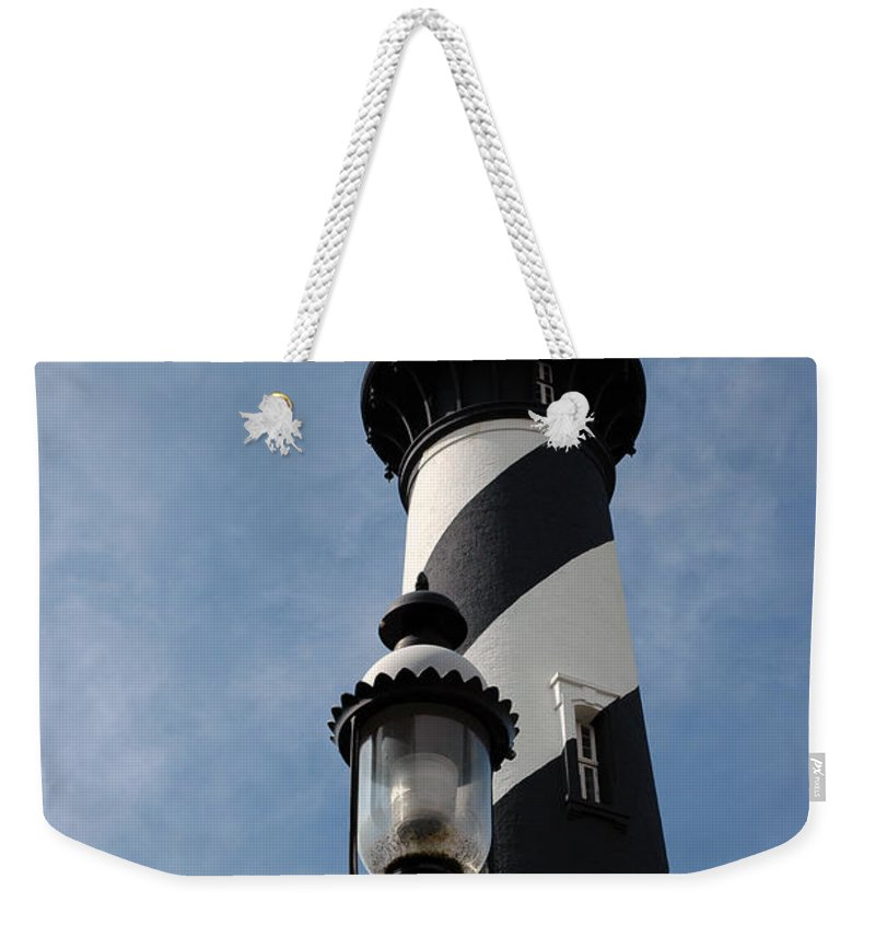 Lighthouse Weekender Tote Bag featuring the photograph The Old Lantern And The Lighthouse by Susanne Van Hulst