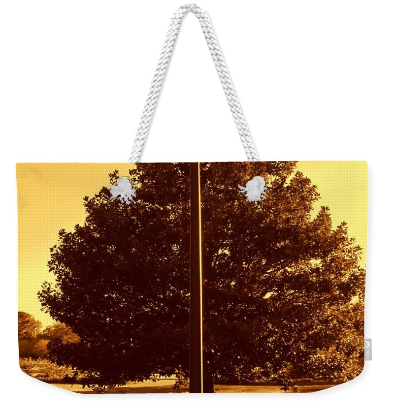 Photography Weekender Tote Bag featuring the photograph The Old Lantern In The Park by Susanne Van Hulst