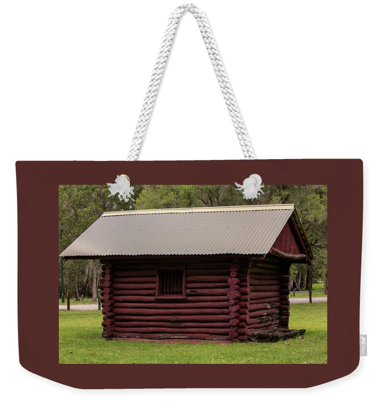 Hut Weekender Tote Bag featuring the photograph The Old Log Hut by Tania Read