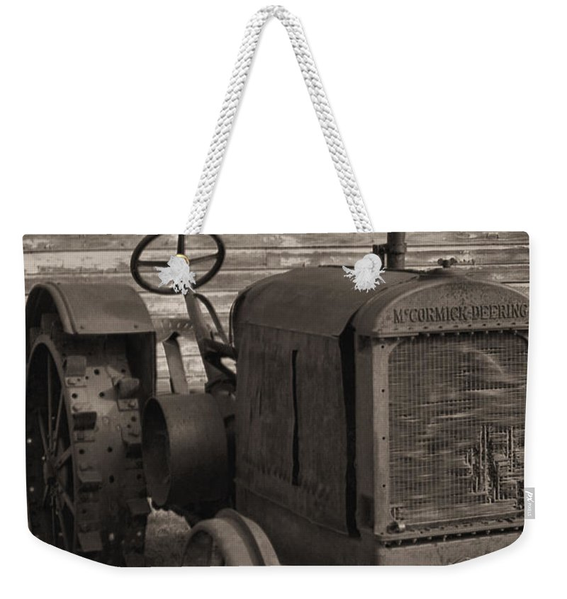 Abandoned Weekender Tote Bag featuring the photograph The Old Mule by Richard Rizzo