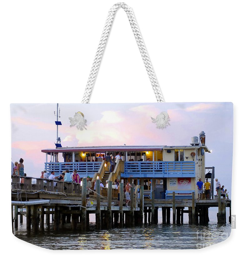 Fishing Pier Weekender Tote Bag featuring the photograph The Old Pier by David Lee Thompson