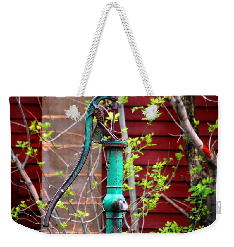 Photography Weekender Tote Bag featuring the photograph The Old Rusty Water Pump by Susanne Van Hulst