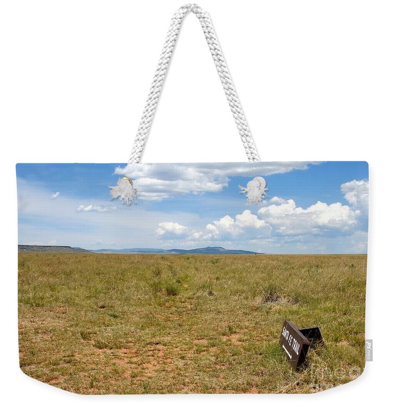 Santa Fe Trail Weekender Tote Bag featuring the photograph The Old Santa Fe Trail by David Lee Thompson