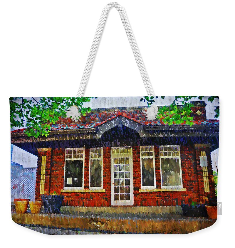 Old Weekender Tote Bag featuring the photograph The Old Train Station by Bill Cannon