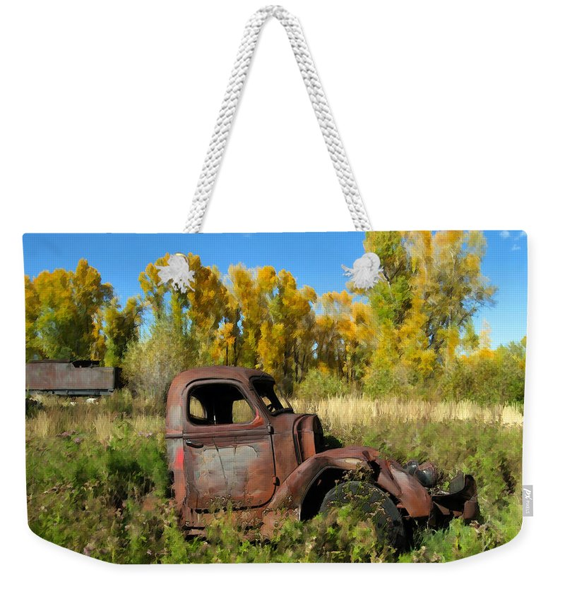 Truck Weekender Tote Bag featuring the photograph The Old Truck Chama New Mexico by Kurt Van Wagner