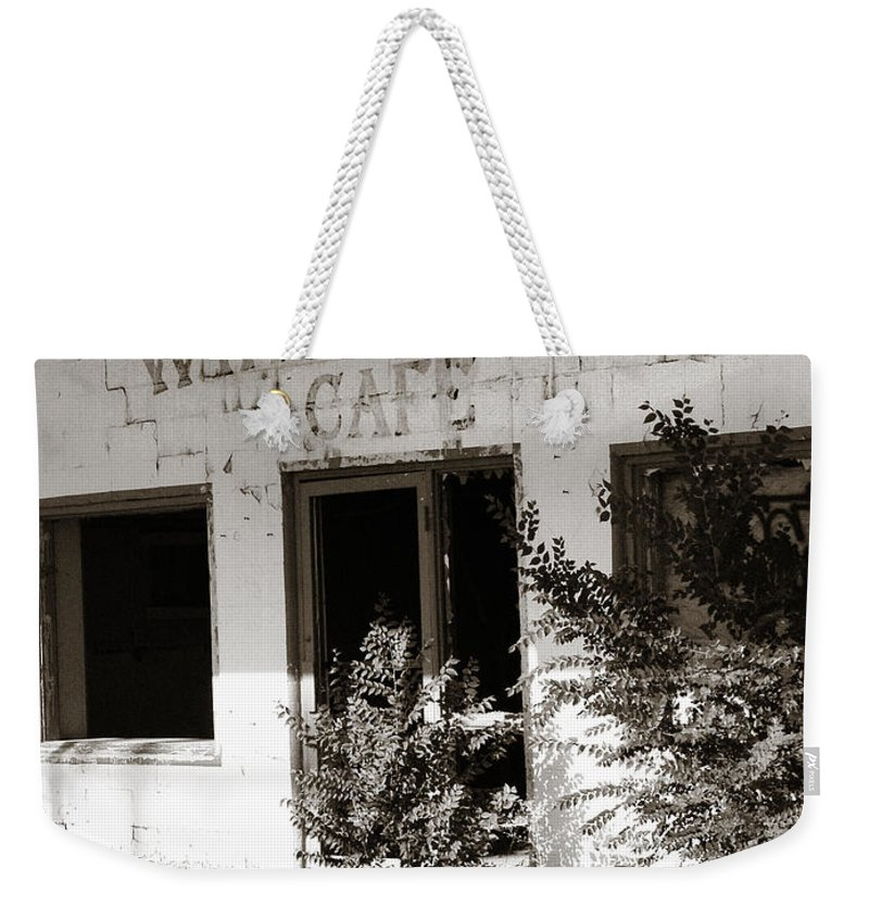 Whistle Stop Cafe Weekender Tote Bag featuring the photograph The Old Whistle Stop Cafe by Marilyn Hunt