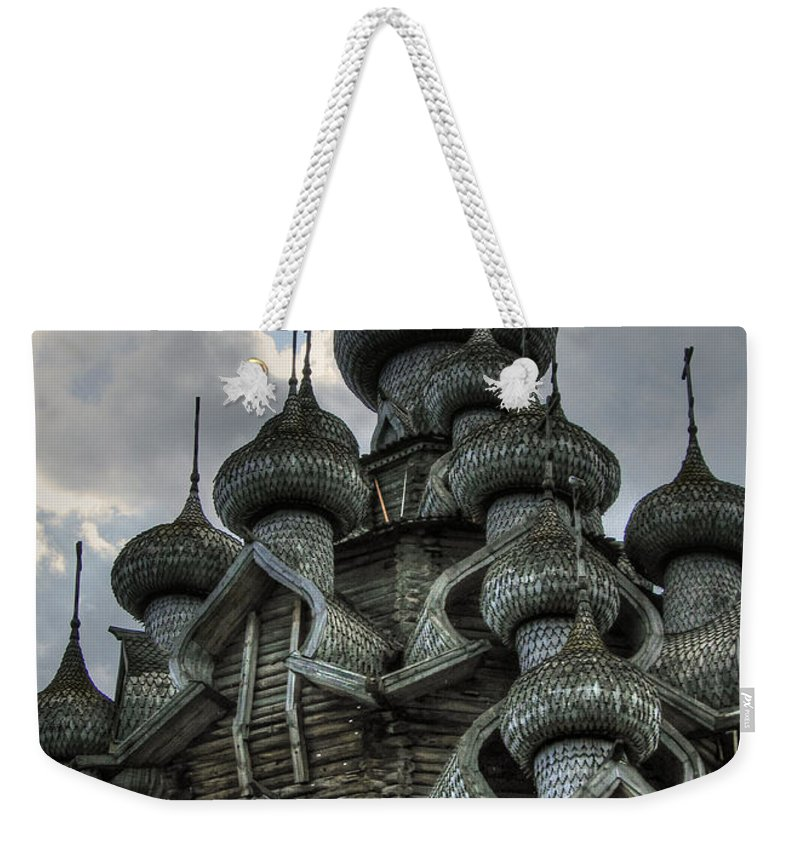 Wooden Church Weekender Tote Bag featuring the photograph The Old Wooden Church by Doug Matthews
