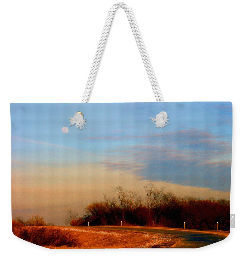 Landscape Weekender Tote Bag featuring the photograph The On Ramp by Steve Karol