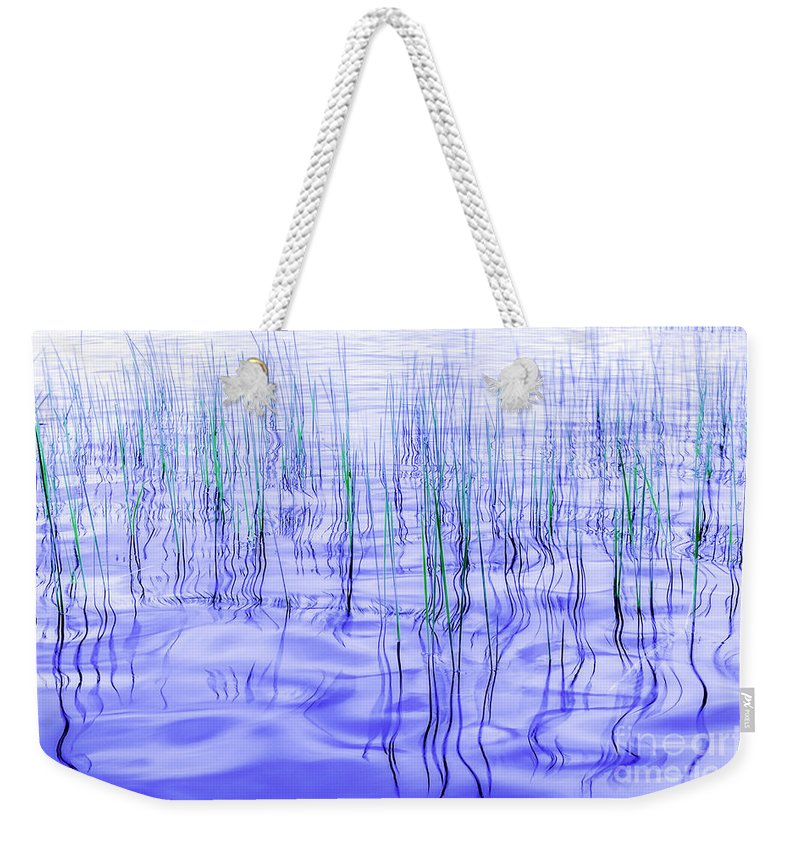 Lake Weekender Tote Bag featuring the photograph The Ongoing Reeds Experiment by Joseph Yvon Cote