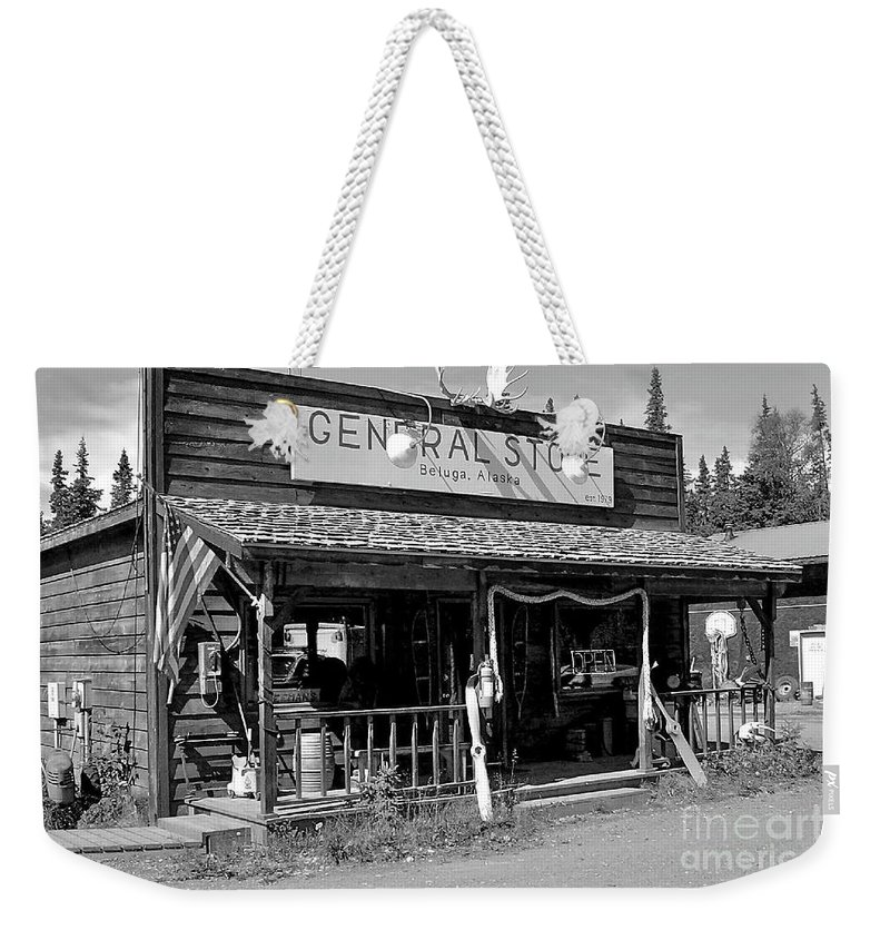 Store Weekender Tote Bag featuring the photograph The Only Store by Rick Monyahan