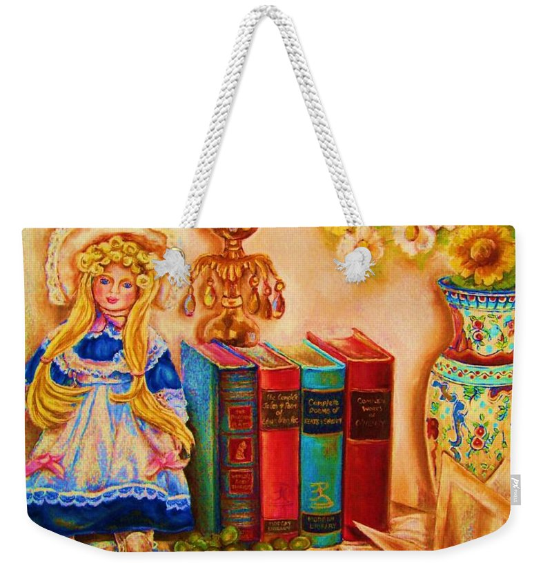 The Bible Weekender Tote Bag featuring the painting The Open Book by Carole Spandau