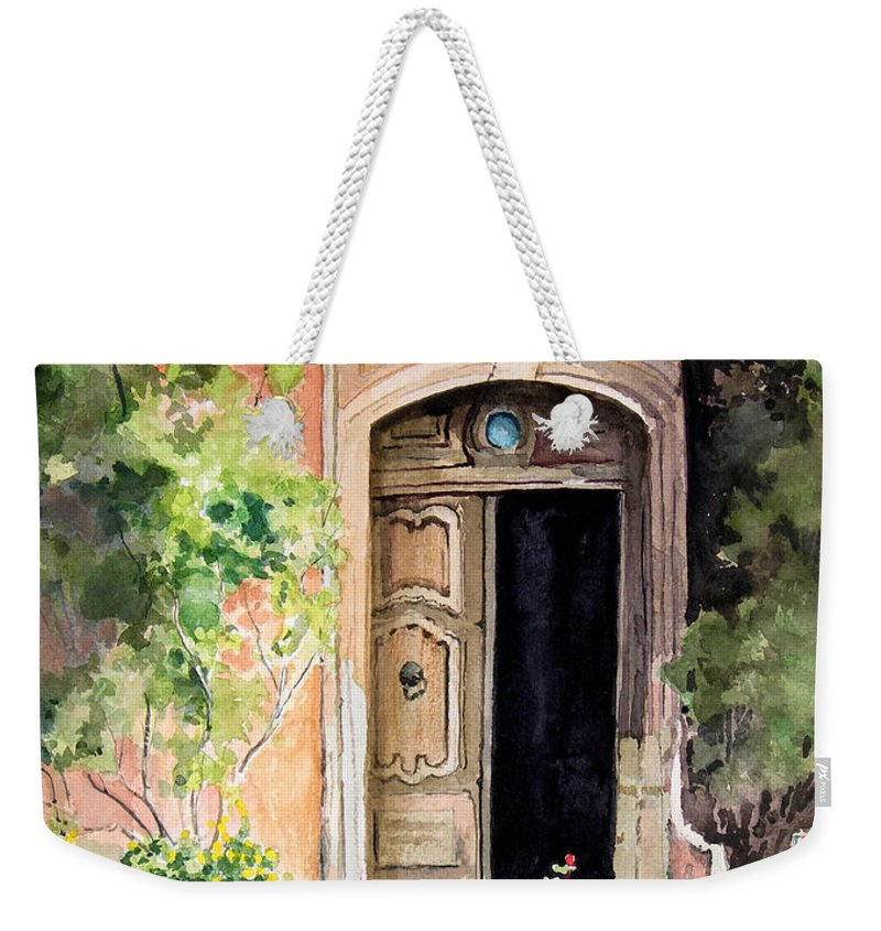 Door Weekender Tote Bag featuring the painting The Open Door by Sam Sidders