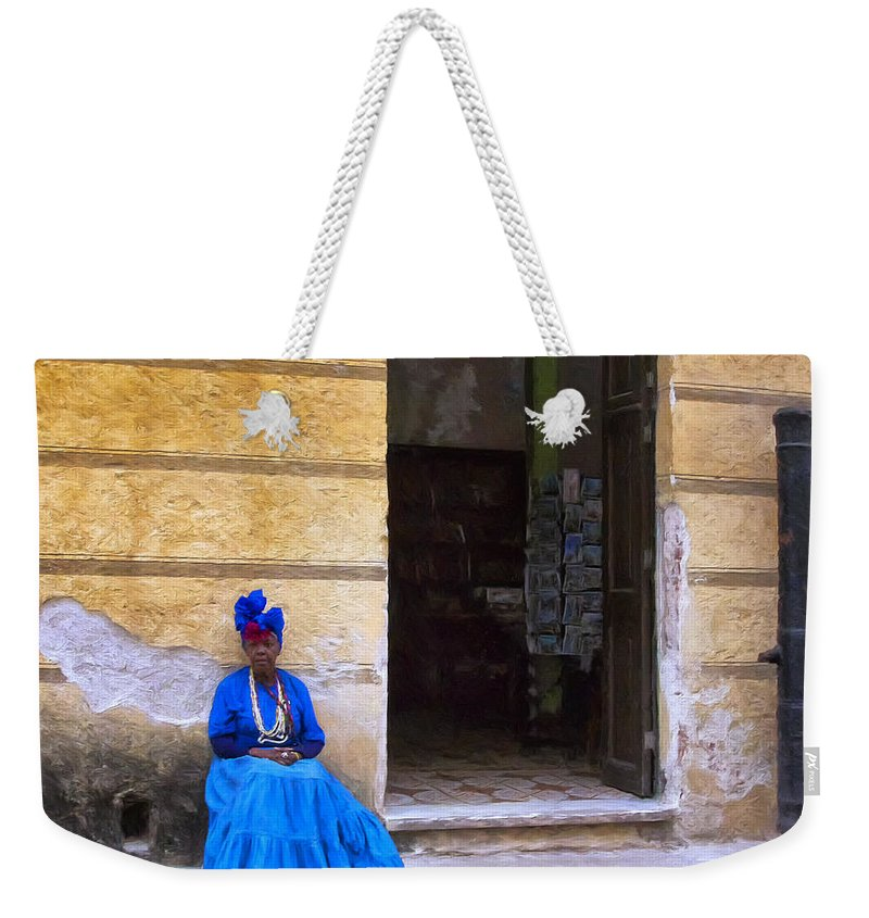 Fortune Teller Weekender Tote Bag featuring the painting The Oracle by Dominic Piperata