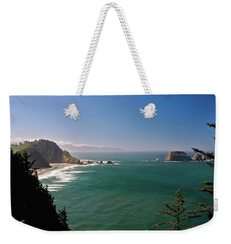 Oregon Weekender Tote Bag featuring the photograph The Oregon Coast by Albert Seger