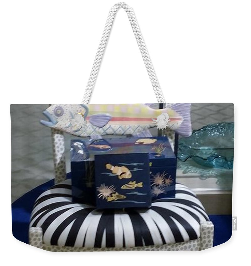 Fish Weekender Tote Bag featuring the photograph The Original Fish Chair by Rob Hans