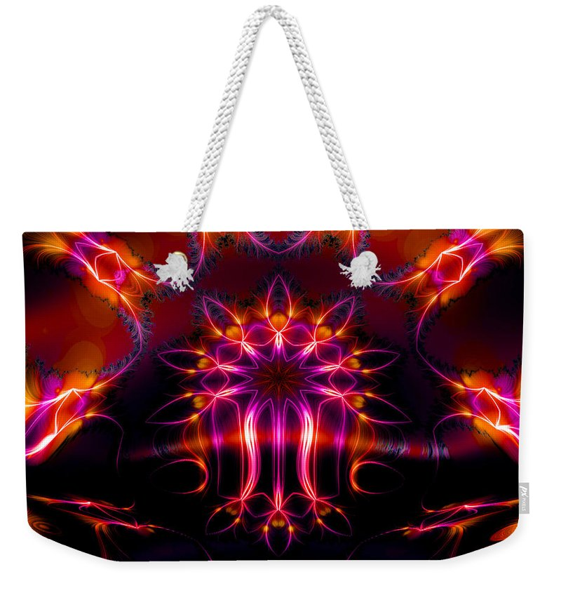 Neon Weekender Tote Bag featuring the digital art The Other Half by Robert Orinski