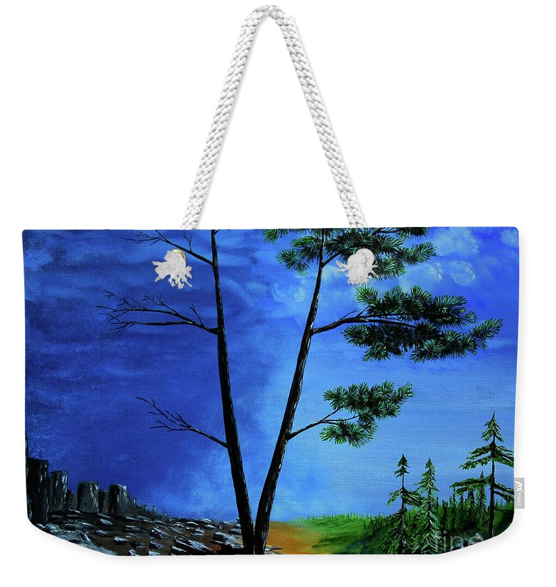 Acrylic Weekender Tote Bag featuring the painting The Other Side by Norman McLean