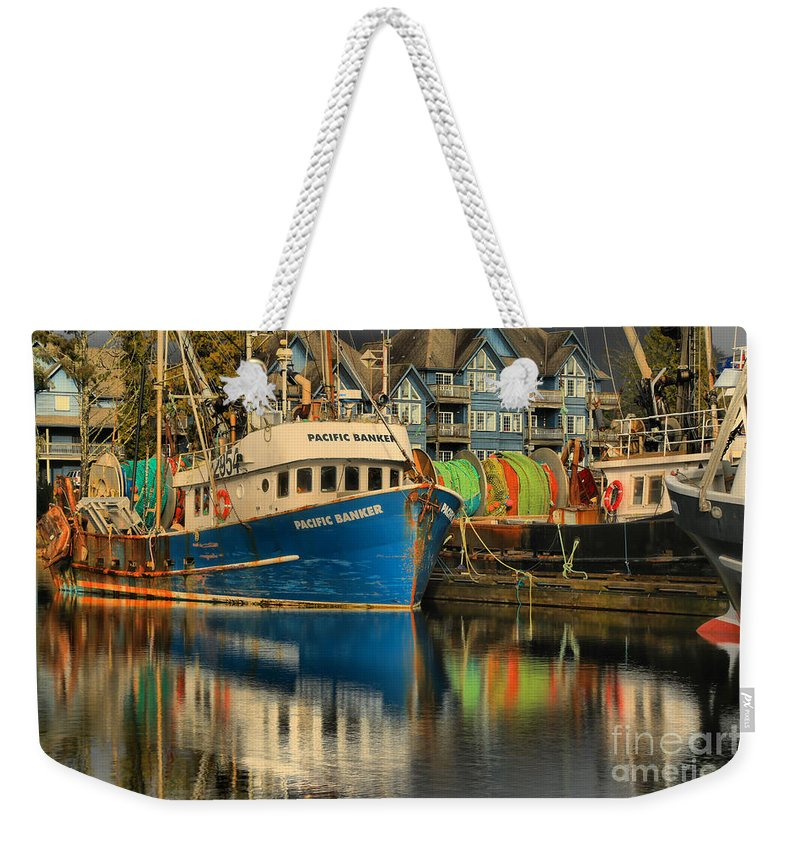 Pacific Banker Weekender Tote Bag featuring the photograph The Pacific Banker by Adam Jewell