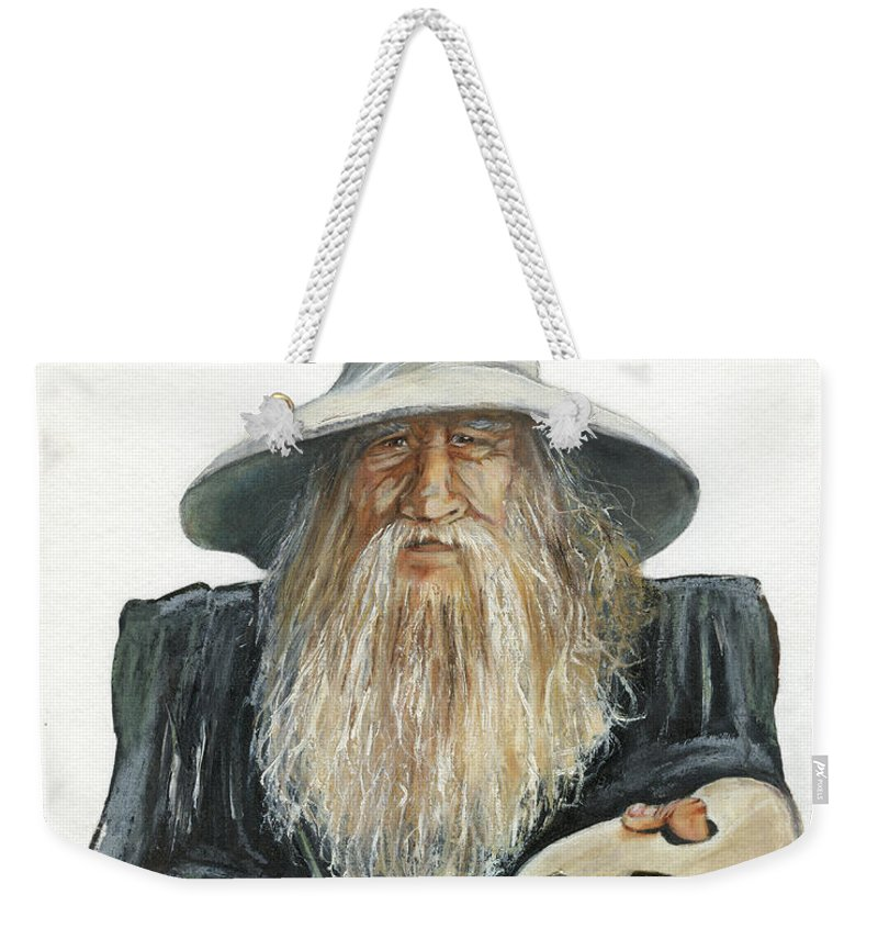 Wizard Weekender Tote Bag featuring the painting The Painting Wizard by J W Baker