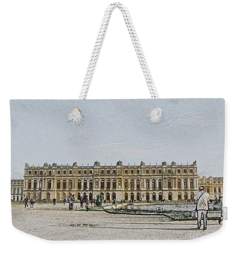 Palace Weekender Tote Bag featuring the photograph The Palace Of Versailles by Amanda Barcon