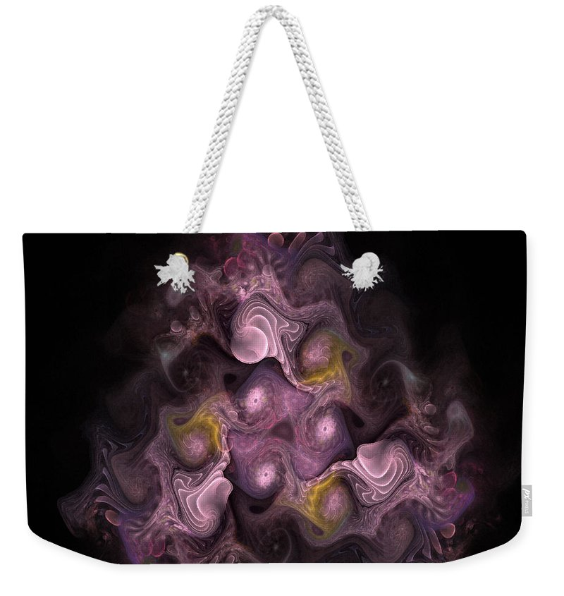Abstract Weekender Tote Bag featuring the digital art The Palatine Hill - Fractal Art by NirvanaBlues