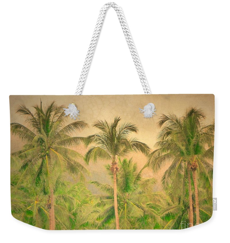 Palm Weekender Tote Bag featuring the photograph The Palms by Tara Turner