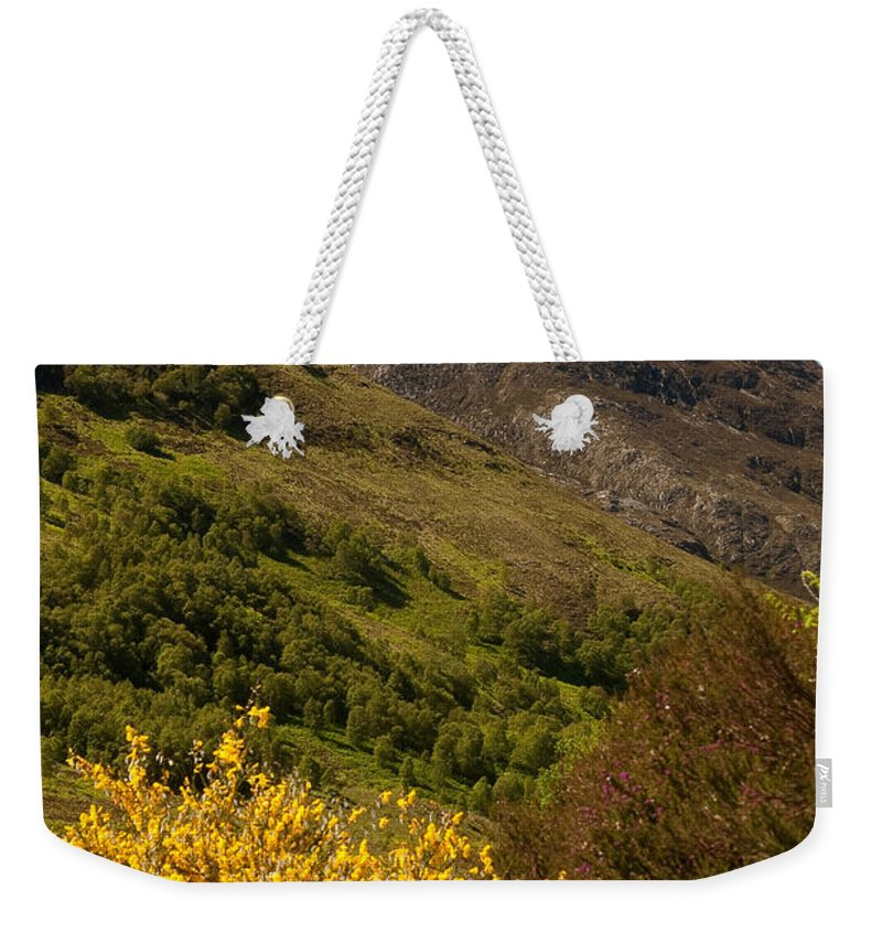 Scotland Weekender Tote Bag featuring the photograph The Pap Of Glencoe by Colette Panaioti