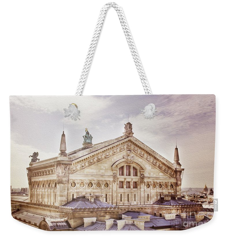 The Paris Opera Weekender Tote Bag featuring the photograph The Paris Opera 2 Art by Alex Art and Photo