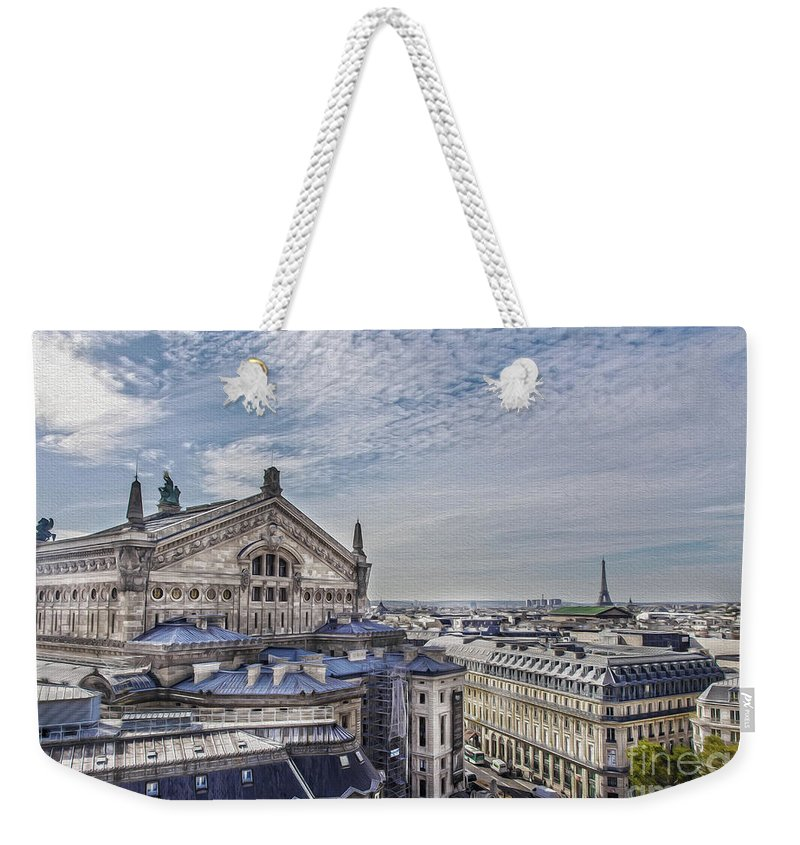 The Paris Opera Weekender Tote Bag featuring the photograph The Paris Opera 5 Art by Alex Art and Photo