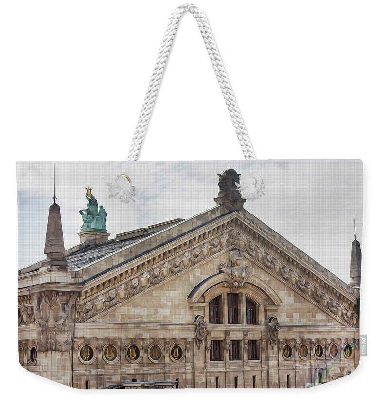 The Paris Opera Weekender Tote Bag featuring the photograph The Paris Opera Art by Alex Art and Photo